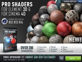 Video Copilot Pro-Shaders for Cinema 4D材质包C4D版