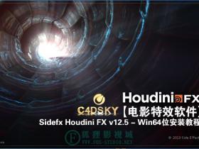 【电影特效软件】Sidefx Houdini FX v12.5 – Win64位高清破解安装教程