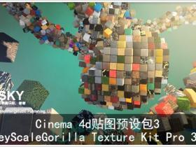 【Cinema 4d贴图贴图预设工具包3】GreyScaleGorilla Texture Kit Pro 3.0