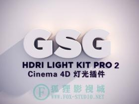 Cinema 4D 灯光插件预设:GSG Light Kit Pro 2.0(灰猩猩出品)