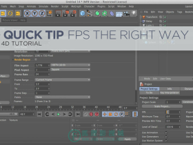 【GSG小贴士】Cinema 4D Quick Tip 4 – Change Your FPS The Right Way