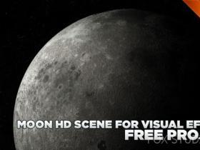 月球模型 MOON HD SCENE FOR VISUAL EFFECTS