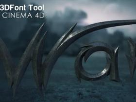 C4D自定义3D文字预设 My3DFontTool Cinema4D