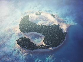 AskGSG | 把文字变为热带岛屿的场景 Turn Text Into A Tropical Island Scene