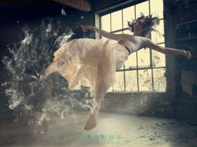 【PS中文案例】悬浮的姑娘 Part1 PhotoShop合成案例