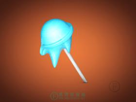 融化的棒棒糖
