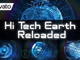 【AE模板】高科技三维地球元素 Hi Tech Earth Reloaded  Element 3D