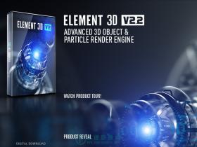 E3D三维模型AE插件 Element 3D v2.2.2 Win/Mac