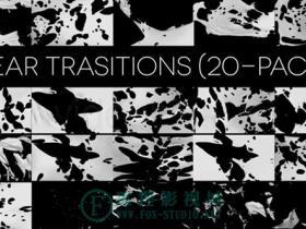 20个高清布料撕破视频素材 TEAR TRANSITIONS (PACK OF 20)