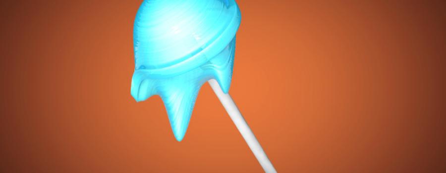 【C4D中文教程】融化的棒棒糖